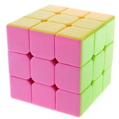Hmost ® High Bright 3×3 Stickerless Speed Cube Smooth Magic Cube Puzzles (Pink)