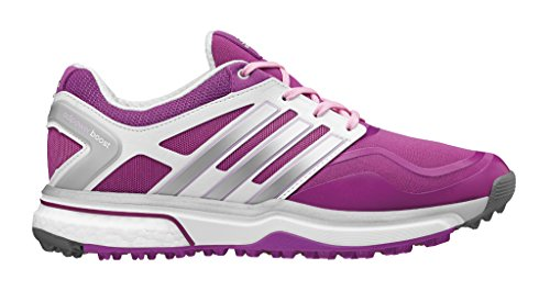 adidas Women's W Adipower S Boost Golf Shoe, Flash Pink/Metallic Silver/Running White, 9 M US