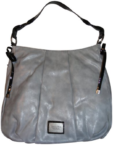 ... Name: Simply Vera Vera Wang Purse Handbag Willow Hobo Salty Gray