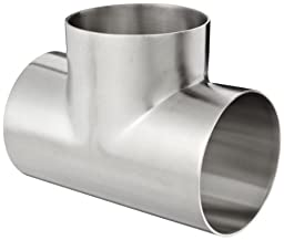 Dixon B7WWW-R300P Stainless Steel 316L Polished Fitting, Weld Short Tee, 3\