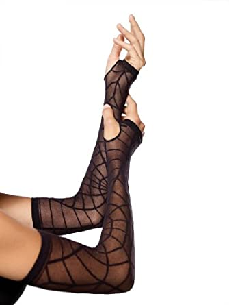 Sheer Spiderweb Arm Warmer, One Size (UK 6-14)