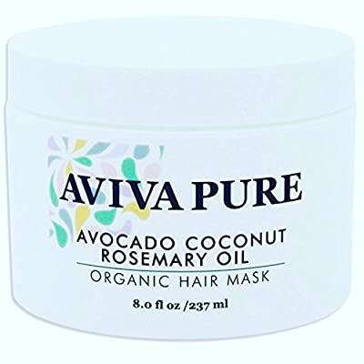 Aviva Pure - Avocado Hair Mask, Coconut Oil Hair Mask, Hair Mask for Hair Growth, Hair Mask for Damaged Hair, Repair Dry, Damaged or Color Treated Hair, Best For All Hair Types, Sulfate Free