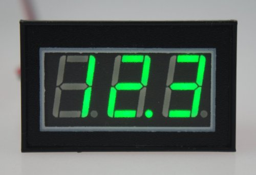"Smakn 0.56"" Waterproof Digital Voltmeter Dc 2.7-30V Green Led Auto Mini Volt Tester Panel Meter"