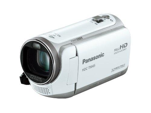 【Amazonの商品情報へ】Panasonic デジタルハイビジョンビデオカメラ TM45 内蔵メモリー32GB クリアホワイト HDC-TM45-W