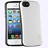 AirCase T-Grip Back Case with Screen Protector for Apple iPhone 5/5S (White)