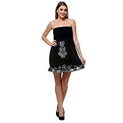 TeeMoods Women's Embroidered Tube Dress