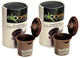 Ekobrew Original Reusable Filter Brown 2 Pack