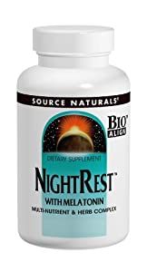 Source Naturals NightRest with Melatonin, 100 Tablets