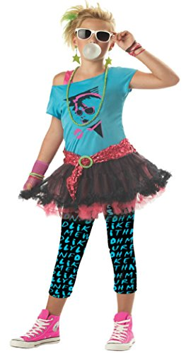 Girls 80S Valley Kids Child Fancy Dress Party Halloween Costume