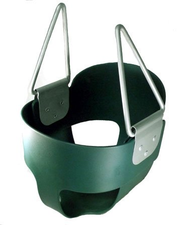 Swing Baby Toddler S-26R Full Bucket Seat Swing (No Rope Or Chain), Green front-799625