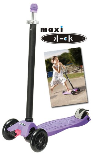 Maxi Kick® Scooter - PURPLE with Pilot Steering - Oppenheim Toy Portfolio Gold and Platinum Seal Awards 2009