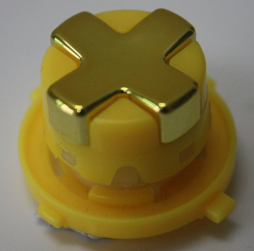 Chrome Gold W/ Yellow Transforming D-Pad For Xbox 360 Controller (Rotating Dpad)