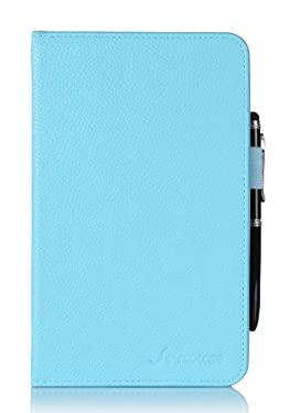 Kindle Fire HD 7 Tablet (2014) Case, roocase Kindle Fire HD 7 Dual View Folio Case Cover with Multi-Viewing Stand for All- 2014 Fire HD 7 Tablet (4th Generation), Blue