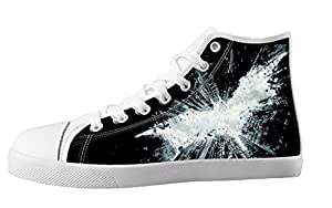 Custom High Top Lace Up Canvas Batman Individualized Design Trendy For Women's Shoes-7M(US)