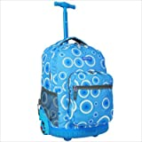 J World Blue Target 18 Rolling Backpack