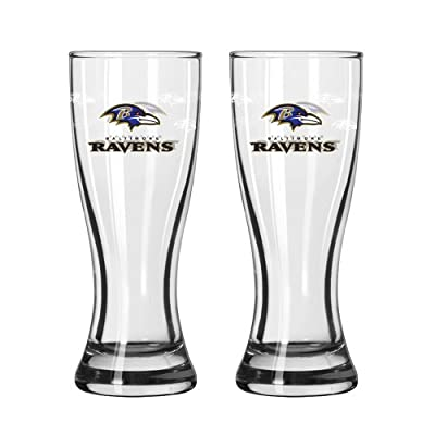 NFL Baltimore Ravens 2.5-Ounce Mini Pilsners (Pack of 2)