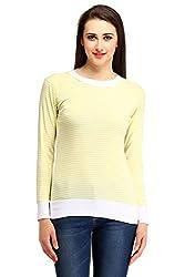Cottinfab Women Cotton Yellow Tops (Large)
