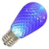 Vickerman 17259 - .96 watt 120 volt S14 Medium Screw Base Blue Faceted LED Christmas Light Bulb (XLEDS12)