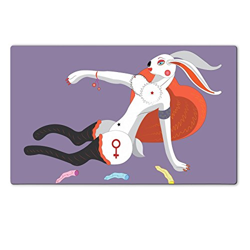 Liili Premium Large Table Mat 28.4 x 17.7 x 0.2 inches Sexual doe rabbit Photo 5031130