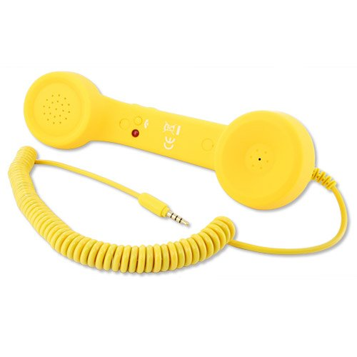 Skque® Apple Iphone 4/4S 5/5S/5C 3.5Mm Cool Retro Phone Speaker Telephone Handset For Iphone 4 Samsung Blackberry, For Apple Iphone 4/4S 5/5S/5C,Yellow