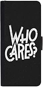 Snoogg Who Cares Graphic Snap On Hard Back Leather + Pc Flip Cover Samsung Ga...