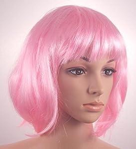 Fashionable Pretty Short Pink Bob Babe Wig Girls Ladies
