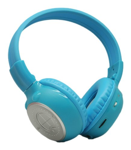 Fahrenheit Hp-K1B Single-Channel Collapsible Ir Headphones (Blue)