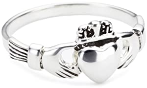 Heritage Womens Sterling Silver Celtic Irish Claddagh Ring 2380HPL