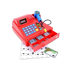Summit Junior Talking Cash Register - Red
