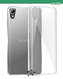 Jkobi Exclusive Soft Silicone TPU Jelly Crystal Clear Case Soft Back Case Cover For HTC Desire 828 Dual Sim - Transparent