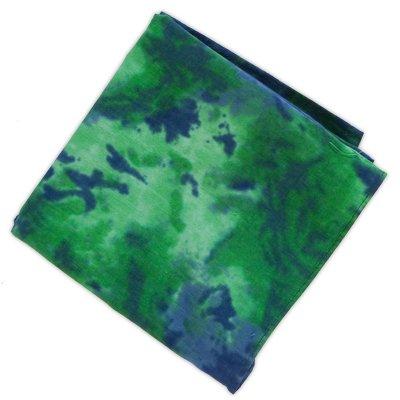 Green And Blue Tie Dye Bandanas