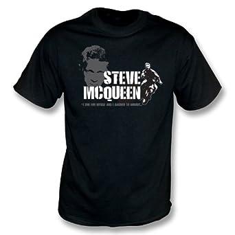 Steve McQueen - le grand T-shirt d'évasion - des filles Slimfit petit, colorent le noir