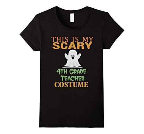 [Women's This is My Scary 4th Grade Teacher Costume Halloween T-Shirt Medium Black] (Costumes For Teachers)