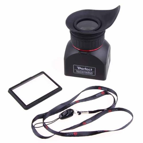 Neewer Foldable 3-Inch LCD Viewfinder 3X Magnification for Canon, Nikon, Sony, Pentax, Panasonic and Other DSLR Cameras