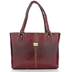 Leora Women's Handbag (Brown) (HNML101BR)
