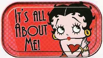 Betty Boop It's All About Me Tin Sign