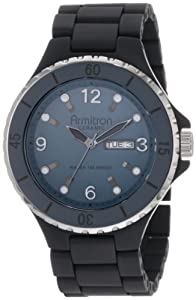 Armitron Men's 20/4762GYBK Men's Black Ceramic Day-Date Watch