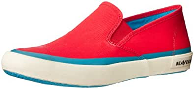 SeaVees Men's Baja Slip On Pop Fashion Sneaker,Pepper Red,9.5 M US