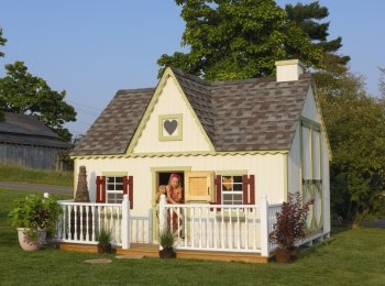 Victorian 8' x 12' Wood Playhouse Kit Without Floor