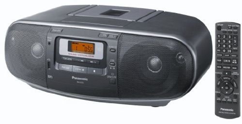 Panasonic RX-D55, Stereo portatile (lettore CD, MP3 Playback), nero