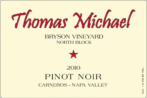 2010 Thomas Michael North Block Pinot Noir Napa Valley Bryson Vineyard 750 Ml