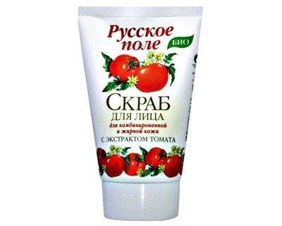 Facial Scrub with a Tomato Extract for Combination or Oily Skin