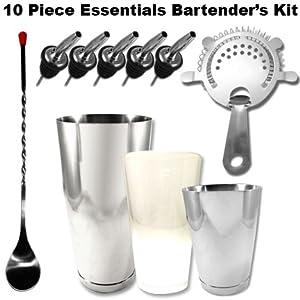 Bartender's Kit: 10 Piece Basic Bar Set