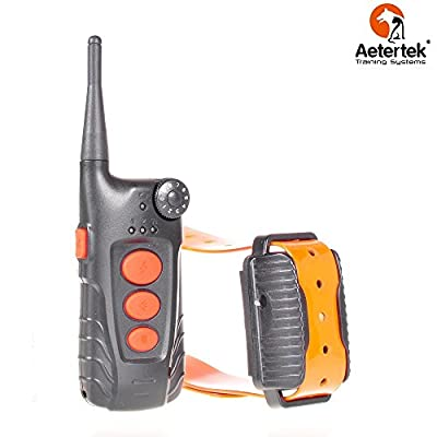 Aetertek At-918c 100% Waterproof Rechargeable Dog Training Shock Collar 600 Yard, Auto Anti Bark Function