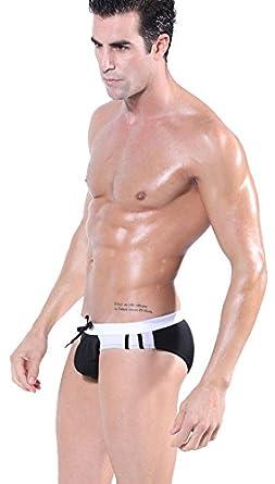 Demarkt Maillot de bain pour Source Chaude/ Slip/ Boxer Trunks Shorts/ Short de bain pour Hommes - Noir et Blanc- Taille S/M/L (S)