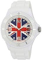 ICE-Watch - Montre Mixte - Quartz Analogique - Ice-World - United Kingdom - Big - Cadran Multicolore - Bracelet Silicone Blanc - WO.UK.B.S.12
