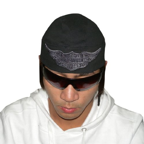 Harley Davidson Super Cool Motorcycles Bar & Shield Bandana Cap Black