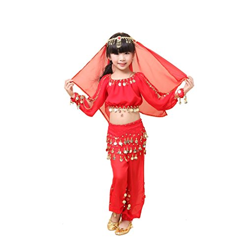 Pilot-trade Kid Best Gift Dancing Suit Girls Lovely Belly Dance Set for Children