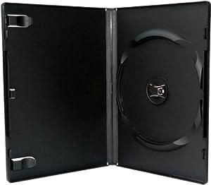 AMARAY DVD Cases black for 1 Disc 14mm spine - 50 pack