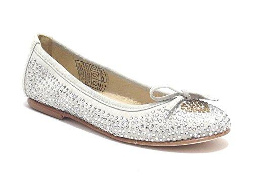 Twin Set scarpe ragazza, modello HS58CG, ballerina in camoscio con strass, colore chantilly